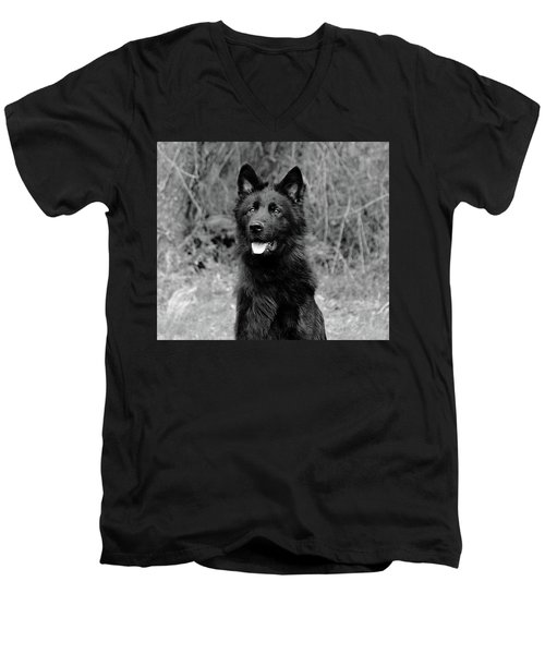 Men's V-Neck T-Shirt featuring the photograph Aziza  by Sandy Keeton