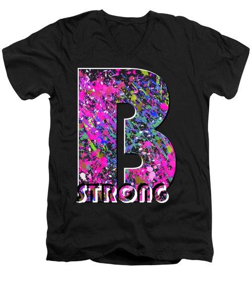 B Strong Men's V-Neck T-Shirt