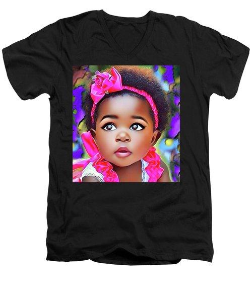 Baby Girl Men's V-Neck T-Shirt