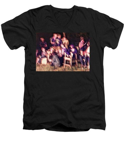 Bacchanalian Freak Show With Hieronymus Bosch Treatment Men's V-Neck T-Shirt