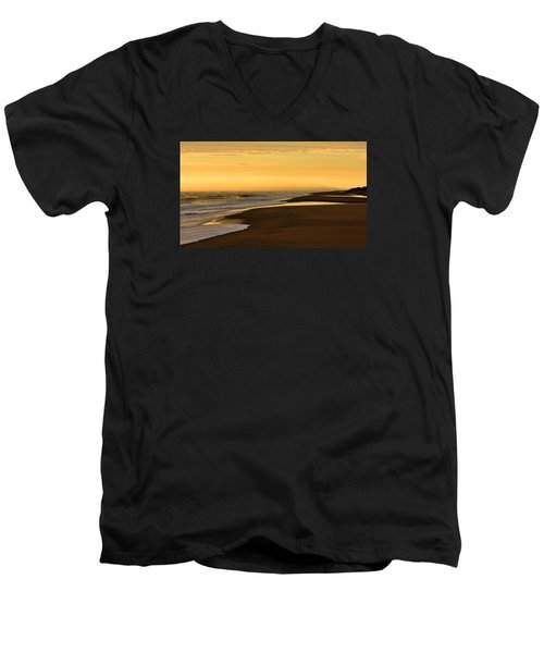 Back Bay Sunrise Men's V-Neck T-Shirt