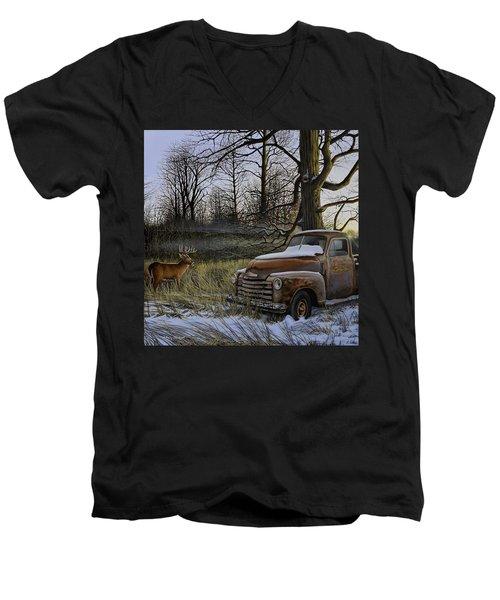 Back Forty Men's V-Neck T-Shirt