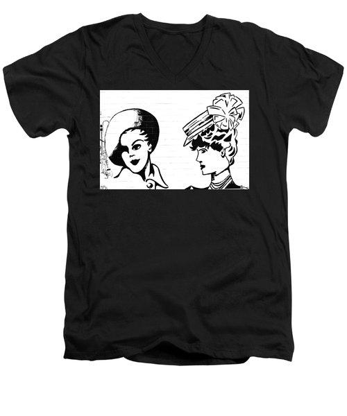 Back In Twenties Mural Men's V-Neck T-Shirt