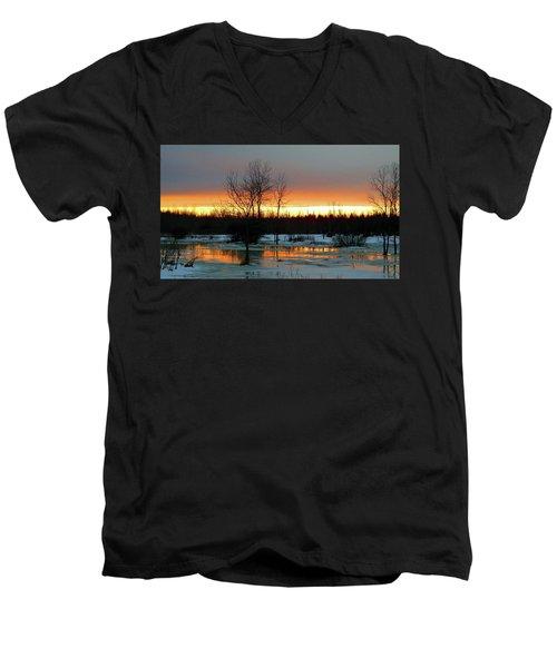 Back Roads Of Clayton Men's V-Neck T-Shirt