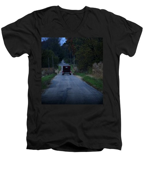Back Roads Men's V-Neck T-Shirt by Rowana Ray
