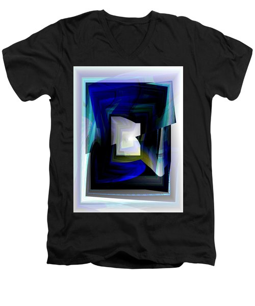 The End Of The Tunnel Men's V-Neck T-Shirt by Thibault Toussaint