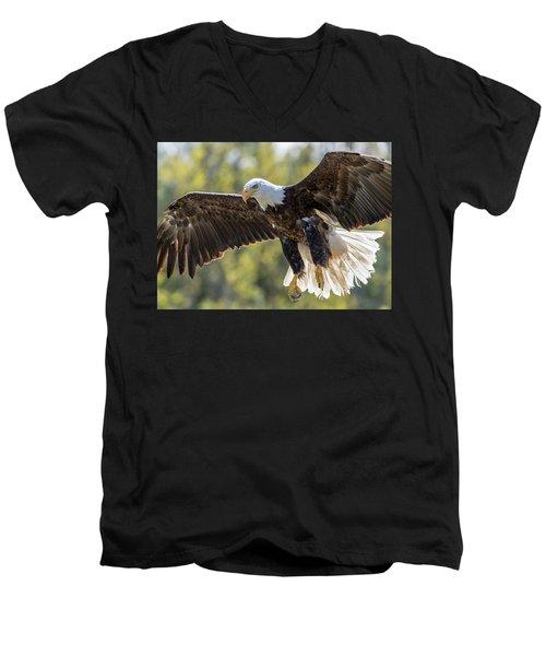 Backlit Eagle Men's V-Neck T-Shirt