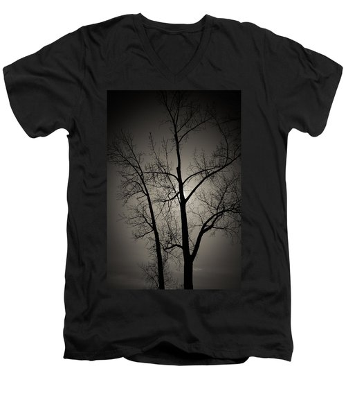 Backlit Trees Men's V-Neck T-Shirt