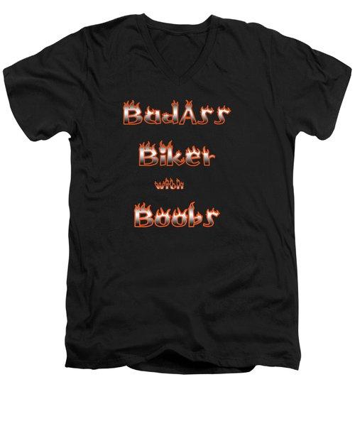 Badass Biker Boobs Men's V-Neck T-Shirt