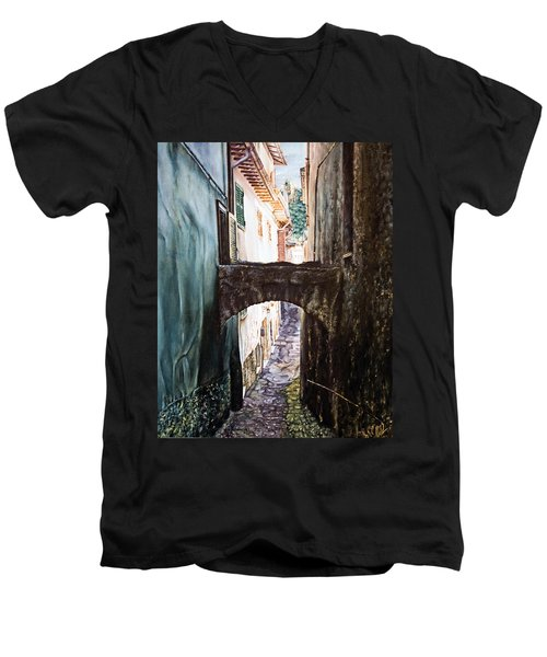 Balcony On The Arch Men's V-Neck T-Shirt