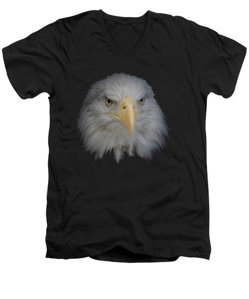 Men's V-Neck T-Shirt featuring the photograph Bald Eagle 1 by Ernie Echols