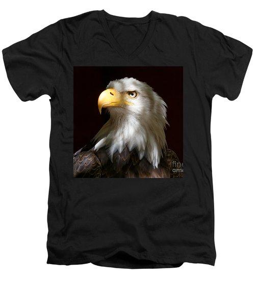 Bald Eagle Closeup Portrait Men's V-Neck T-Shirt