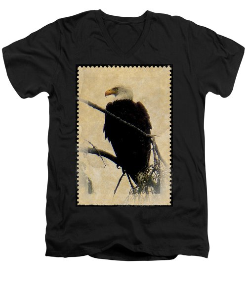 Men's V-Neck T-Shirt featuring the photograph Bald Eagle by Lori Seaman