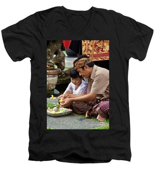 Bali_d796 Men's V-Neck T-Shirt
