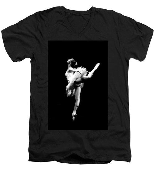 Ballet Dance Men's V-Neck T-Shirt