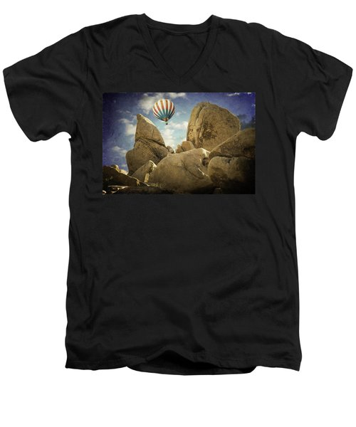 Ballooning In Joshua Tree Men's V-Neck T-Shirt