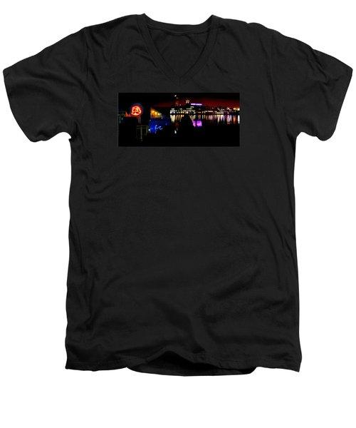 Baltimore Night Mosaic Men's V-Neck T-Shirt by William Bartholomew