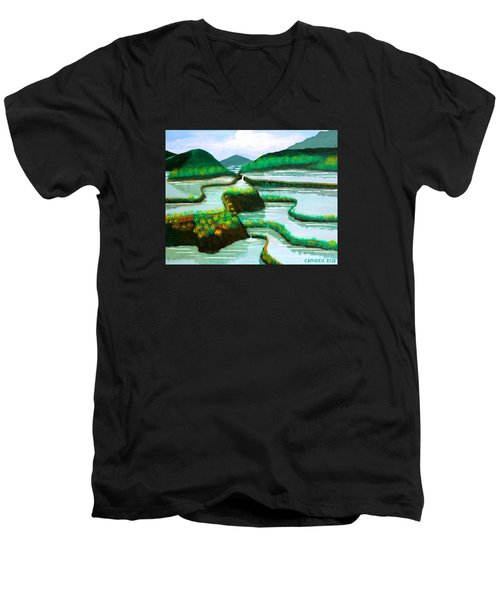 Banaue Men's V-Neck T-Shirt