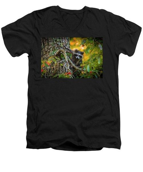 Bandit #1 Men's V-Neck T-Shirt