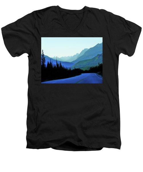 Banff Jasper Blue Men's V-Neck T-Shirt