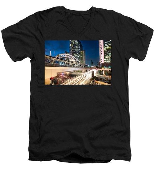 Bangkok Night Rush  Men's V-Neck T-Shirt