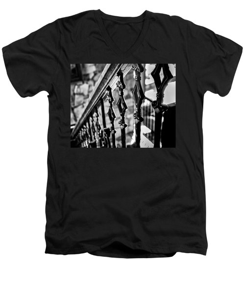 Bannister B_w Men's V-Neck T-Shirt
