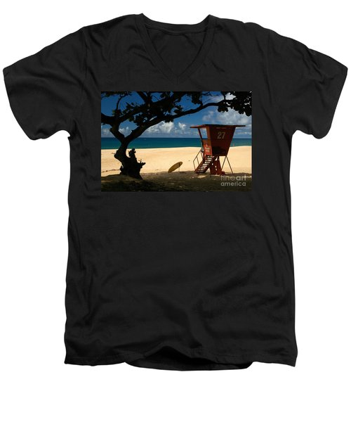 Banzai Beach Men's V-Neck T-Shirt