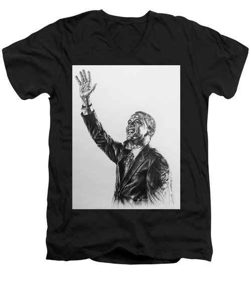 Barack Obama Men's V-Neck T-Shirt by Darryl Matthews