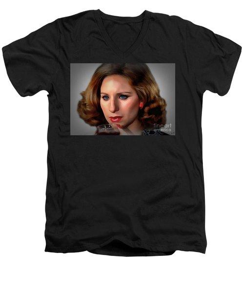 Barbara Streisand Men's V-Neck T-Shirt