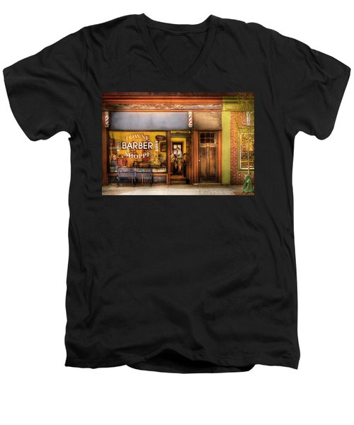 Barber - Towne Barber Shop Men's V-Neck T-Shirt