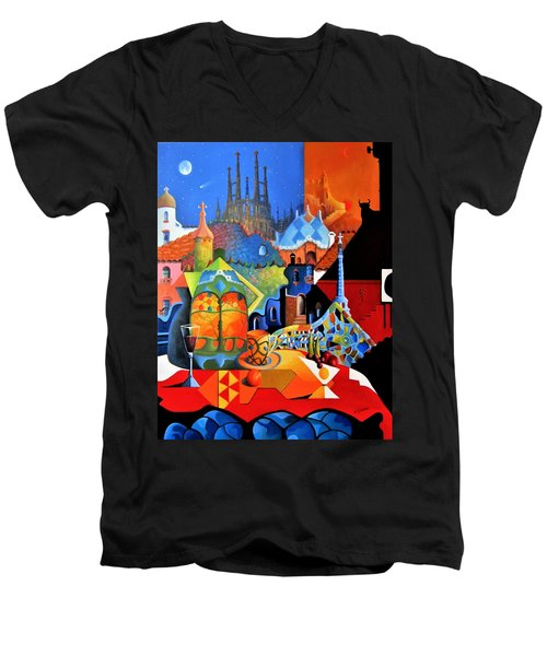 Barcelona Nights Men's V-Neck T-Shirt