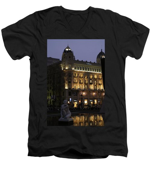 Barcelona Spain Men's V-Neck T-Shirt
