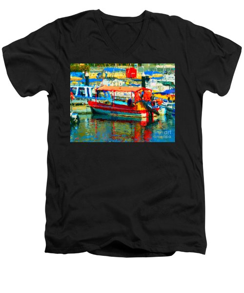 Barco En Cabo Marina Men's V-Neck T-Shirt