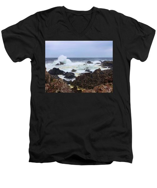 Barkley Sound Men's V-Neck T-Shirt by Heather Vopni