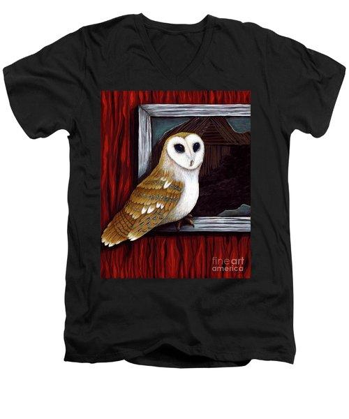 Barn Owl Beauty Men's V-Neck T-Shirt