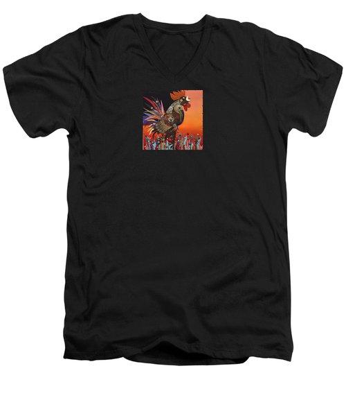 Barnyard Gladiator Men's V-Neck T-Shirt by Bob Coonts