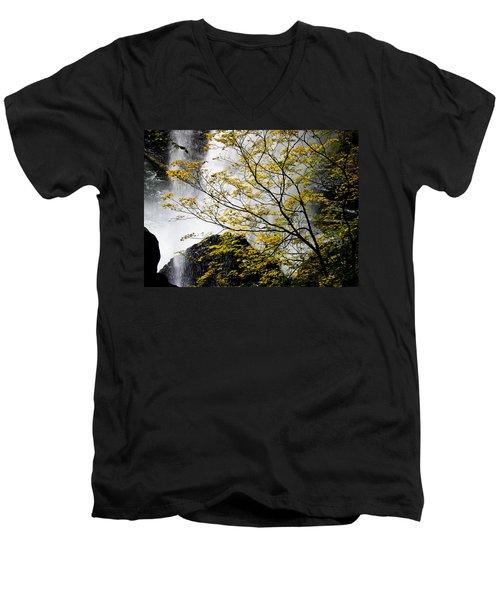 Base Of The Falls. Men's V-Neck T-Shirt
