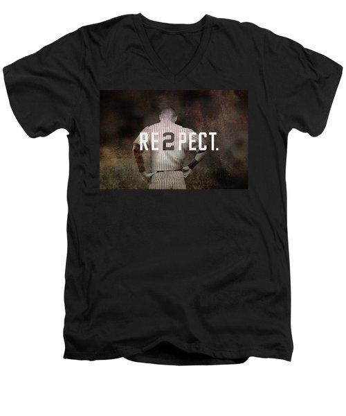 Baseball - Derek Jeter Men's V-Neck T-Shirt