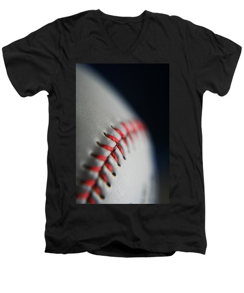 Baseball Fan Men's V-Neck T-Shirt by Rachelle Johnston