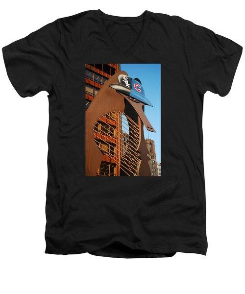 Baseball Picasso Men's V-Neck T-Shirt