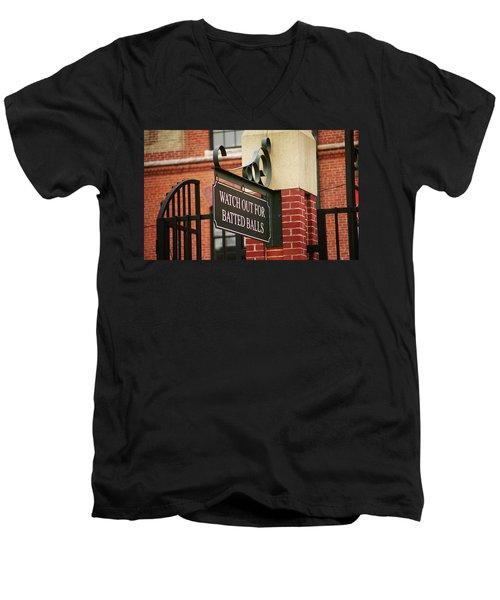 Baseball Warning Men's V-Neck T-Shirt