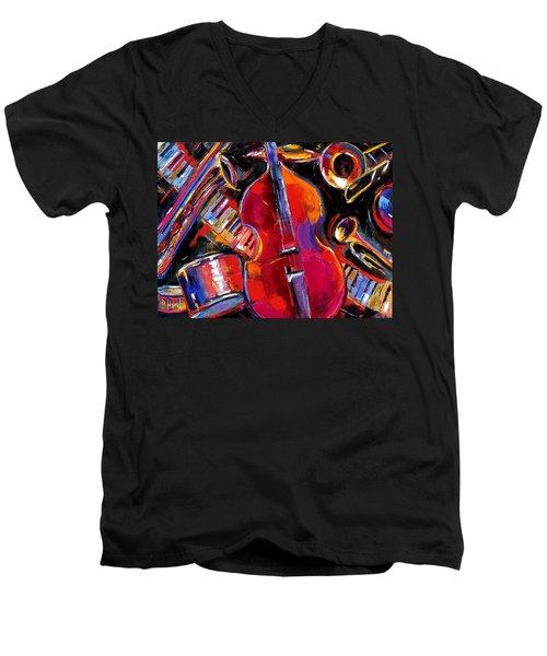 Bass And Friends Men's V-Neck T-Shirt