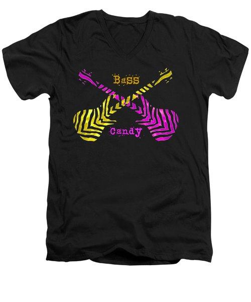 Bass Candy Men's V-Neck T-Shirt