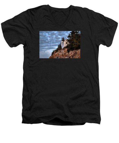 Bass Harbor Light No. 2 - Acadia - Maine Men's V-Neck T-Shirt