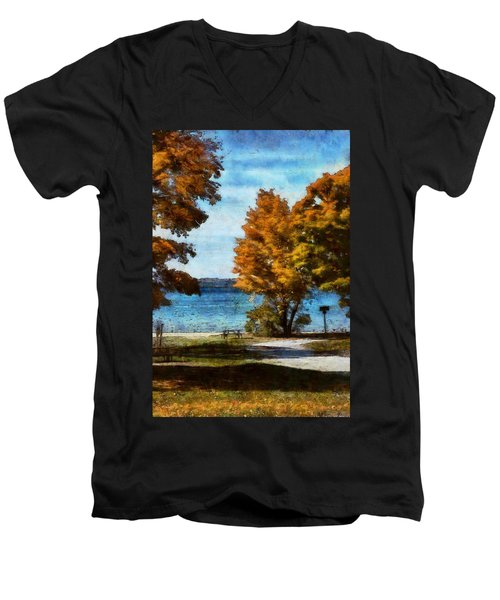 Bass Lake October Men's V-Neck T-Shirt