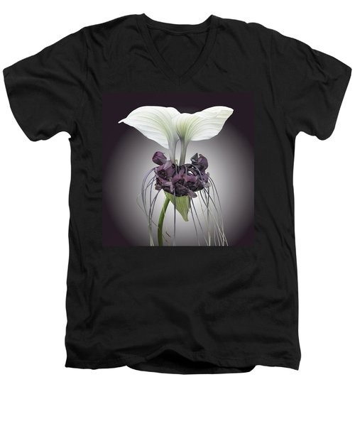 Bat Plant Men's V-Neck T-Shirt by Denise Bird