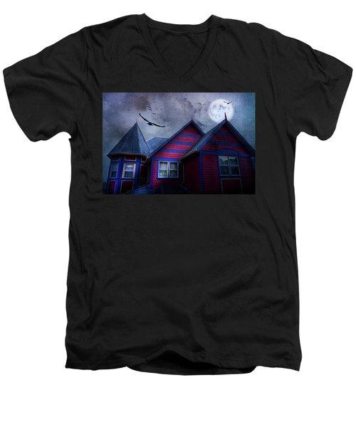 Battle Street West Men's V-Neck T-Shirt by Theresa Tahara