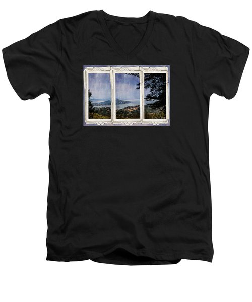 Men's V-Neck T-Shirt featuring the photograph Bay Area by Judy Wolinsky