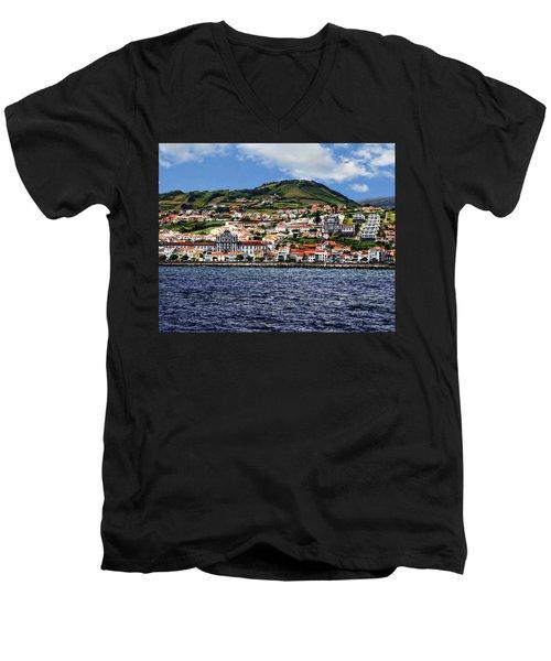 Bay Of Horta Men's V-Neck T-Shirt
