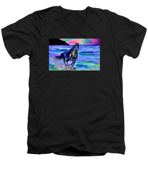 Beach Horse Men's V-Neck T-Shirt